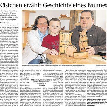 Die Frankenpost berichtet über Holzdesign Zaus