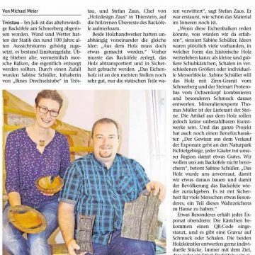 Backöfele-Aktion in der Frankenpost