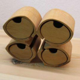 Schuckkästchen aus Erle mit 4 Schübchen