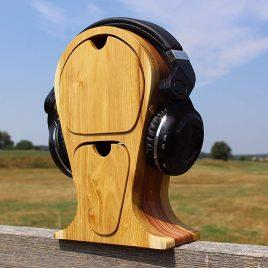Kopfhörerständer aus Robinie und Multiplex  2