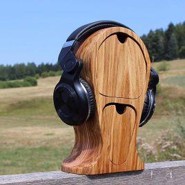 Kopfhörerständer aus Eiche und Multiplex