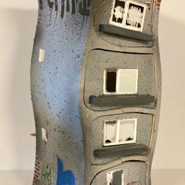 """Berliner Hochhaus-Kästchen """"Street Art"""" mit 4 Schüben"""
