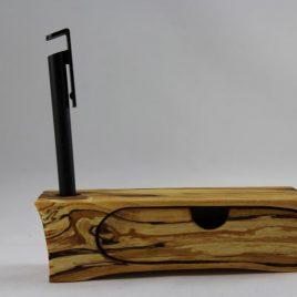 Bürokästchen mit Stifteloch und einem Schub aus gestockter Birke