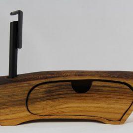 Bürokästchen mit einem Schub und Stifteloch aus Kirsche