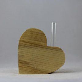 """Vase """"Herz"""" aus Ahorn"""