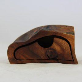 Kästchen aus Ulme mit einem Schub