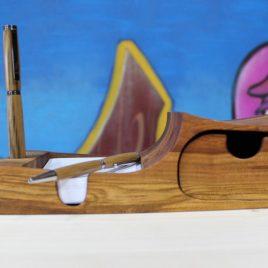 Zettelbox mit einem Schub aus Kirsche (ohne Stift)