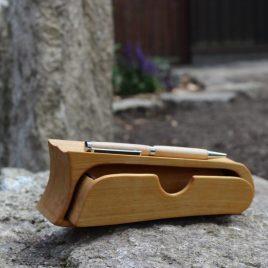 Kästchen aus Birke mit Stift aus Birke