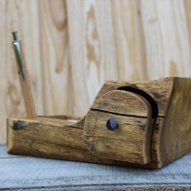 Zettelbox aus Robinie ohne Stift