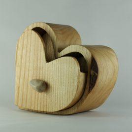 Herzkästchen aus Esche