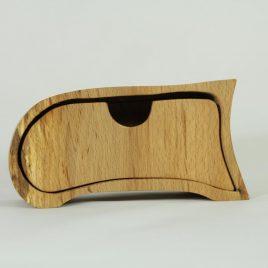 Kästchen aus Buche mit einem Schub