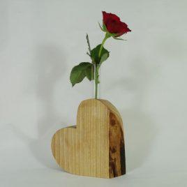 """Vase """"Herz"""" aus Esche"""