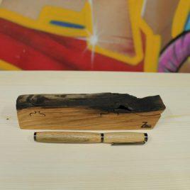 Schreib-Set Puzzelbox mit Füller aus Eiche
