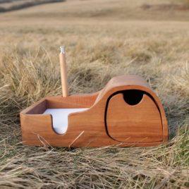 Zettelbox aus Birne