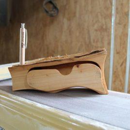 Kästchen fürs Büro aus Pappelholz ohne Stift